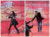 桂劍雲老師和劉德華老師元旦彙演上上台表演